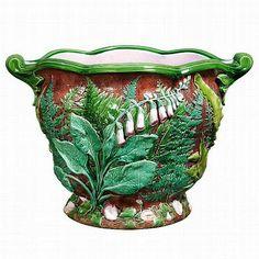 Glazed and Confused ~ Minton Foliage Jardiniere