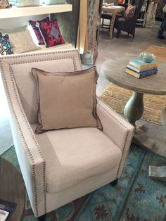 """Double Flange fabulous """"Eden"""" Pillow on the Collina Club Chair"""