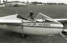 The first Hungarians 2 Nándor Opitz is about to take off with his type R-22sv SuperFutár D glider on the airfield of Dunakeszi, in 1958. Nándor Opitz became the first Hungarian to get a diamond badge with his 518 km flown distance achieved with the same glider during the 1958 World Gliding  Championships in Leszno.