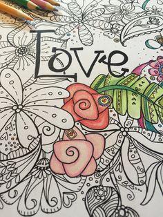 Love Instant DownloadAdult and Children Coloring von psTangledArt