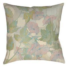 Summer Vine 1 Indoor/Outdoor Throw Pillow
