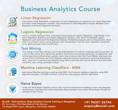 ExcelR Offers Business Analytics Course and Data Analytics Certification Course Training In Bangalore, With Placement Assistance. ExcelR is considered to be the Best Business Analytics and Data Analytics Course Training Institute In Bangalore. Recommender System, Data Cleansing, Crime Data, Apache Spark, Sentiment Analysis, Technology Infrastructure, Normal Distribution, Logistic Regression