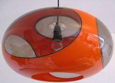 Suspension 'Ufo' - Orange - Luigi Colani - Années 70