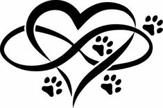 Items similar to Infinite Love 4 Paws Vinyl Die cut Sticker Pet Lovers Dog, C. - Items similar to Infinite Love 4 Paws Vinyl Die cut Sticker Pet Lovers Dog, Cat Animal Lovers - Dog Tattoos, Body Art Tattoos, Print Tattoos, Tatoos, Tattoo Cat, Cat Paw Print Tattoo, Dog Memorial Tattoos, Cat Memorial, Aquarell Tattoos