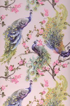 Tier Wallpaper, Wallpaper Samples, Animal Wallpaper, Pattern Wallpaper, Indian Prints, Indian Art, Butterfly Wallpaper, Peacock Wallpaper, Green Wallpaper