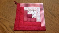 Check out this item in my Etsy shop https://www.etsy.com/listing/266859521/lancaster-county-amish-quilted-log-cabin