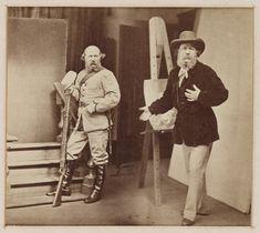 'Rejlander Introduces Rejlander...', c. 1865, The Royal Photographic Society Collection, National Media Museum / SSPL