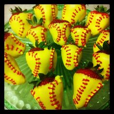 Softball strawberries