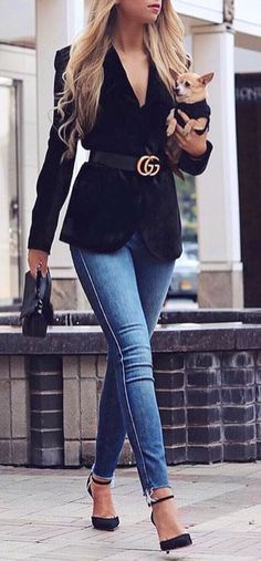 #winter #outfits blue denim jeans