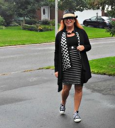 Giant tiger Dress with a Forever 21 blouse, Fedora and converse.Happy Pattern…
