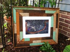 Reclaimed Wood Picture Frame on Etsy, $150.00
