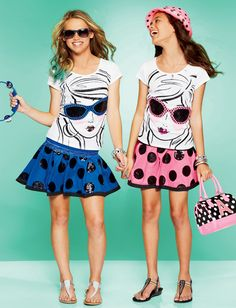 Pink for me and Blue for my BFF Outfits Teenager Mädchen, Teen Girl Outfits, Cute Outfits For Kids, Girl Fashion Style, Cute Fashion, Kids Fashion, Justice Girls Clothes, Justice Clothing, Tween Mode
