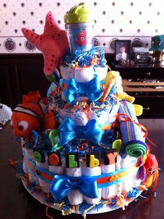 Diaper Cake : Finding Nemo , by KG