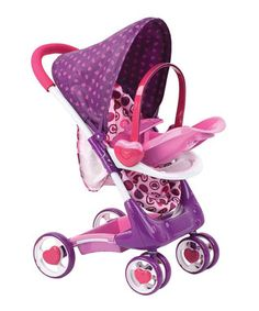 Purple & Pink Heart 2 Heart Doll Stroller Play Set