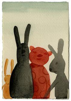 rabbit - watercolor