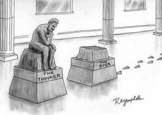 Funny Illustration! The Thinker vs. The Doer - Entrepreneur Blog #motivation #livelifewide