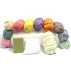 Pretty Pastels Wet Felting Kit - Wool Wet Felting Starter Kit - Merino | eBay!!!!!!!!!!!!!!!!!!!!!!!!!!!!!