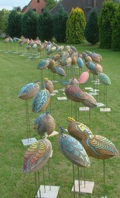 Garden birds - going to copy these for my son and his fairy garden
