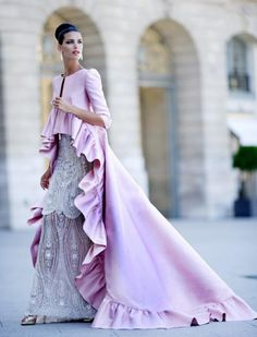Think about having a coat like this Valantino one to go over your wedding dress for a winter wedding...to die for!