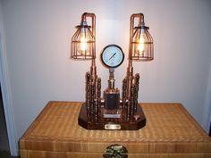 Steampunk Light Gauge  STEAMPUNK ROYALTY Re-purposed Industrial Original  Art