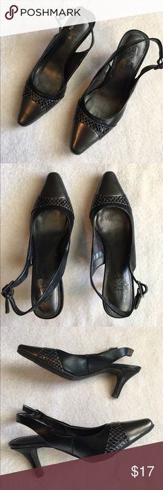 Black Life Stride Slingback Heels Gorgeous heels! Good used condition! No Box. Size 6 1/2. Small scuff on toe (see last picture) Life Stride Shoes Heels