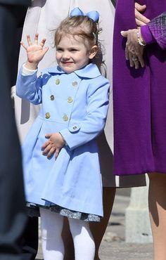 La princesse Estelle de Suède à Stockholm, le 30 avril 2015