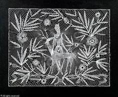 I think it is bobbin lace. Dagobert Peche