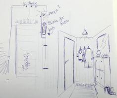 Idee für einen kleinen Flur und wie wir versucht haben, einen Handwerker für die Renovierung zu finden... www.kugelfisch-blog.de