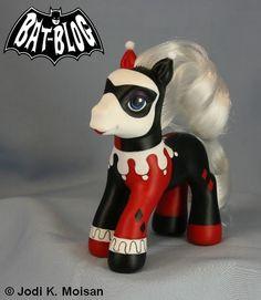 Image Detail for - MY LITTLE PONY Custom Toy HARLEY QUINN Figure by Jodi K. Moisan