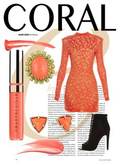 """""""Untitled #82"""" by cyrus69 ❤ liked on Polyvore featuring beauty, Balmain, River Island, Chantecaille, Hourglass Cosmetics and Kendra Scott"""
