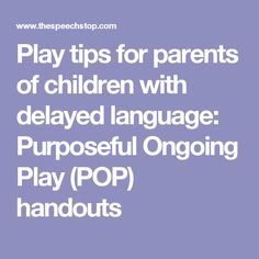 Play tips for parent