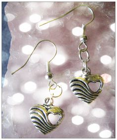 Beautiful Handmade Silver Hook Earrings with Hearts What do you think about these earrings? Please tell me, thank you ;-) You can find these earrings here and other beautiful Jewelry & Accessor...