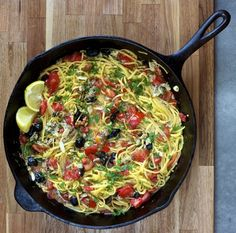 Linguini with Clams, Tomatoes, Olives, and Lemon (via marriahlavigne.com)