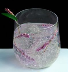 Lavender vodka tonic.