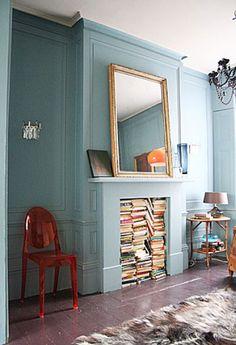 Book-Plie-As-Fireplace-Filler