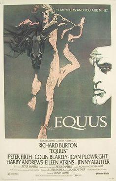 Richard Burton on stage in Equus