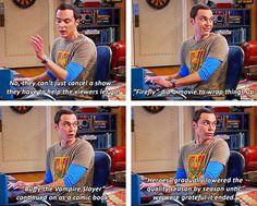 Sheldon explaining fandom life…