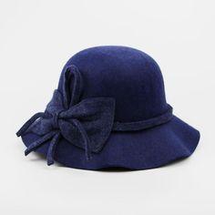 Fashion Vintage wool Wide-Brim Fedoras Hats for Women Bowler Floppy  Feminino Autumn Ladies Cap 4681ae7cf1b1