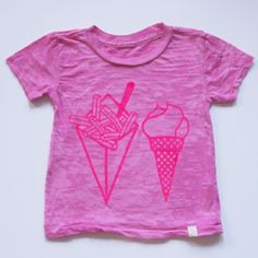 Fries and Ice Cream Pink Tee