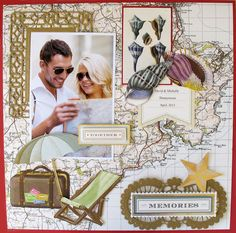 Created for Anna Griffin using the For the Boys collection. Scrapbook Examples, Scrapbook Page Layouts, Scrapbooking Ideas, Scrapbook Pages, Image Layout, Anna Griffin Cards, Wedding Scrapbook, Card Kit, Eat Cake
