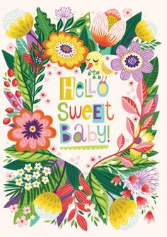 Roger la Borde | New Baby Greeting Card by Helen Dardik