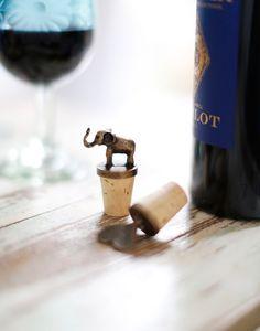 Elephant bottle stopper {The Little Market}