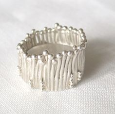 Grass Ring, sterling silver custom ring by Maria Tucker
