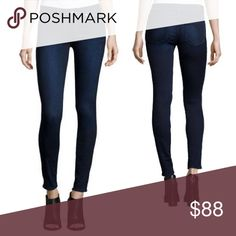 """PAIGE Verdugo Ankle SKINNY JEANS Crop Transcend 30 A signature cut in """"Tate"""" blue, these Verdugo jeans from PAIGE feature a classic mid rise and ankle-grazing inseam for a look you'll turn to season after season.  Mid rise, ultra skinny leg, & slim fit through hip to hem.  Transcend is a luxuriously soft 10 oz stretch denim that won't stretch out.  """"Tate"""" wash Strategically placed back pockets lift the rear. Contrast topstiching. 54% Rayon, 23% Cotton, 22% Polyester, 1% Elastane…"""