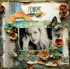 Love This~Scraps Of Darkness November Kit~Water Lilies - My Glitter Coated Life