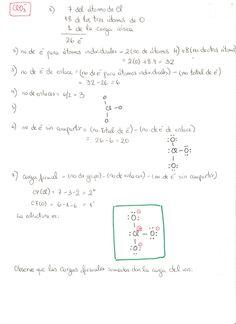 7 Mejores Imágenes De Ejercicios Lewis Y Números Cuánticos