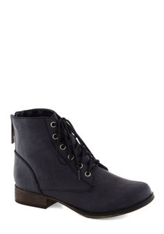 Make Manifest Boot in Navy. Evoke an easygoing aura with this navy-hued ankle boot. #blue #modcloth