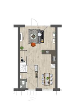 Rectangular Living Rooms, Open Plan Kitchen Dining Living, Micro House, House Layouts, House Floor Plans, Living Room Designs, Modern Design, New Homes, Interior