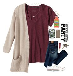 """""""my exact ootd for a Super Bowl party!!❤️"""" by sdyerrtx ❤ liked on Polyvore featuring Patagonia, American Eagle Outfitters, Kendra Scott, Vera Bradley, Converse, PearLustre by Imperial, Tory Burch and Avon"""