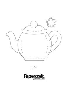 Tea pot shaped template from PaperCraft Inspirations magazine blog here: papercraftinspira...